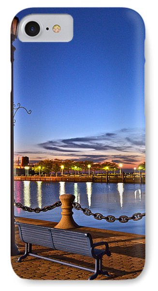 Harbor Lights Phone Case by Frozen in Time Fine Art Photography