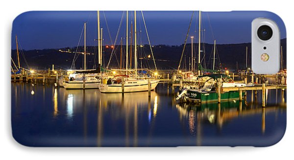 Harbor Nights Phone Case by Frozen in Time Fine Art Photography