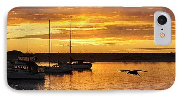 IPhone Case featuring the photograph Harbor Sunset by AJ  Schibig