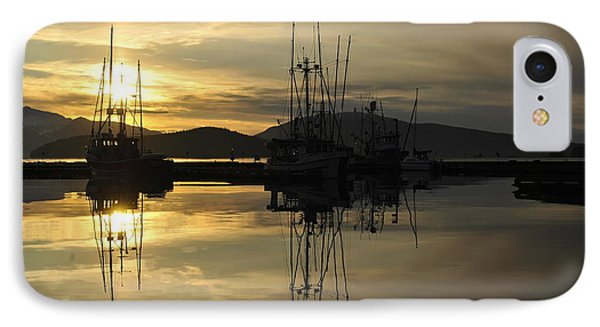 IPhone Case featuring the photograph Harbor Sunset by Cathy Mahnke