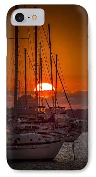 Harbor Sunset IPhone Case by Marvin Spates