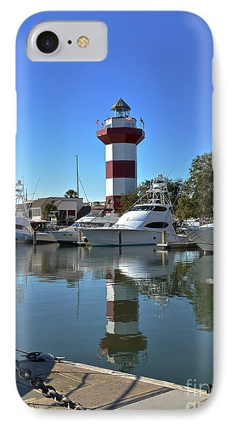 Harbor Town Lighthouse IPhone Case by Carol  Bradley