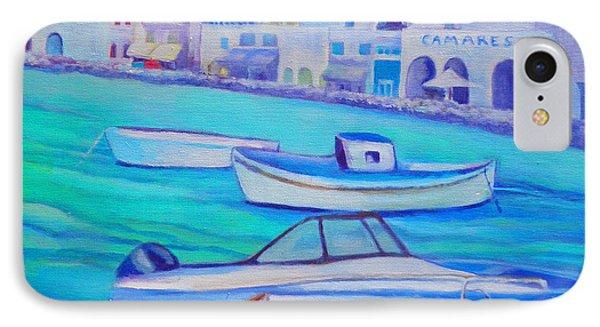 Harborfront Mykonos IPhone Case