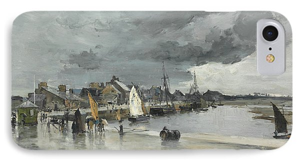 Harbour At St. Vaast The Hague IPhone Case by Frank Myers Boggs