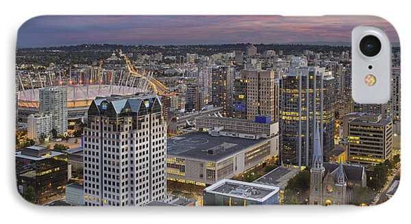 Harbour Center Lookout Vancouver Bc Phone Case by David Gn