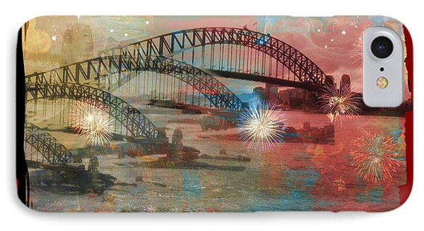 Harbour In Abstraction Phone Case by Leanne Seymour