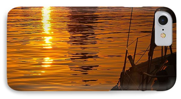 IPhone Case featuring the photograph Harbour Sunset by Clare Bevan