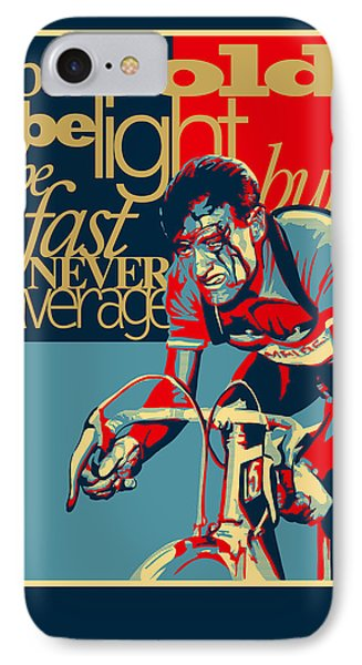 Hard As Nails Vintage Cycling Poster Phone Case by Sassan Filsoof