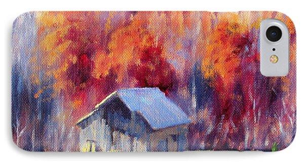 Hardy Road Barn- In Autumn IPhone Case by Bonnie Mason