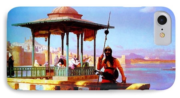 Harem In The Kiosk The Guardian Of The Seraglio 1870 IPhone Case by MotionAge Designs
