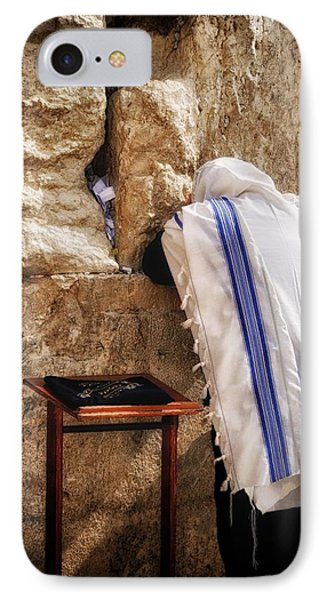 Harken Unto My Prayer O Lord Western Wall Jerusalem IPhone Case