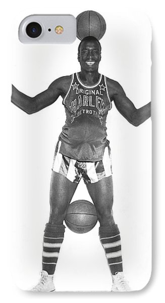 Harlem Globetrotters Player IPhone Case by Underwood Archives