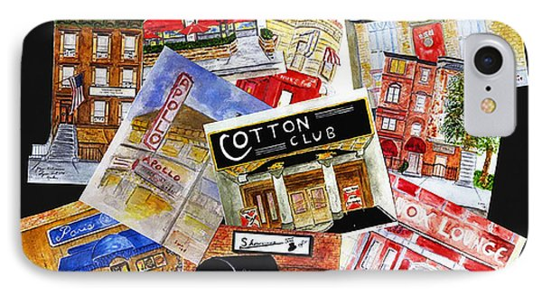 Harlem Jazz Clubs IPhone Case by AFineLyne