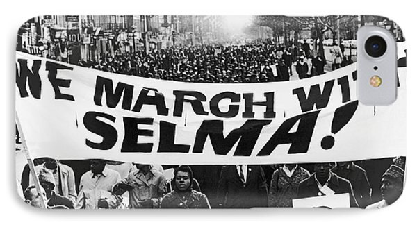 Harlem Supports Selma IPhone Case by Stanley Wolfson