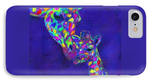 Harlequin Giraffes IPhone Case by Jane Schnetlage