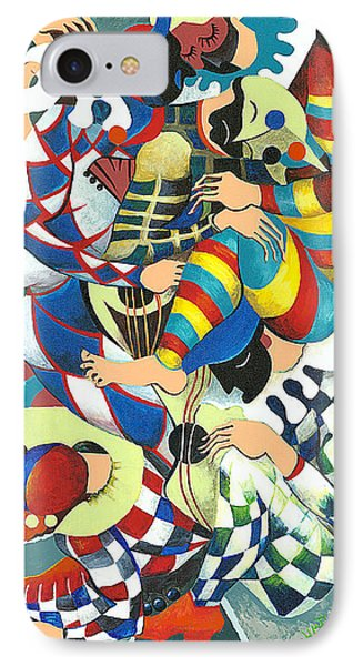 Harlequins Acting Weird - Why?... Phone Case by Elisabeta Hermann