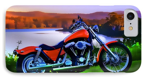 IPhone Case featuring the photograph Harley Art 01 by Kevin Chippindall