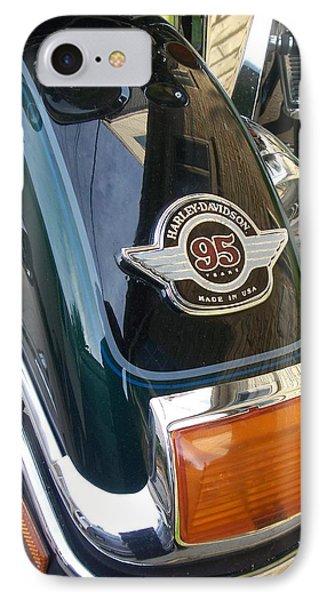 Harley Close-up Tail Light Phone Case by Anita Burgermeister