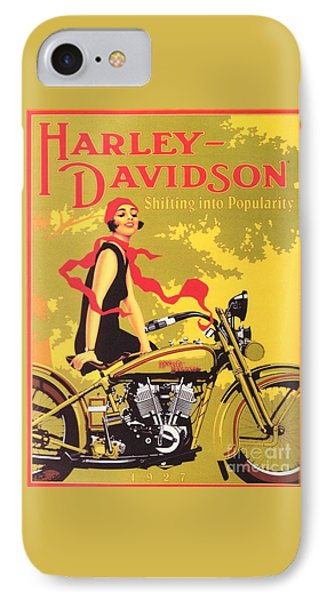 Harley Davidson 1927 Poster IPhone Case by Reproduction
