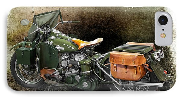 Harley Davidson 1942 Experimental Army IPhone Case by Barbara McMahon