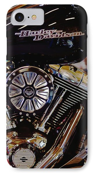 Harley Davidson Abstract IPhone Case by Kae Cheatham