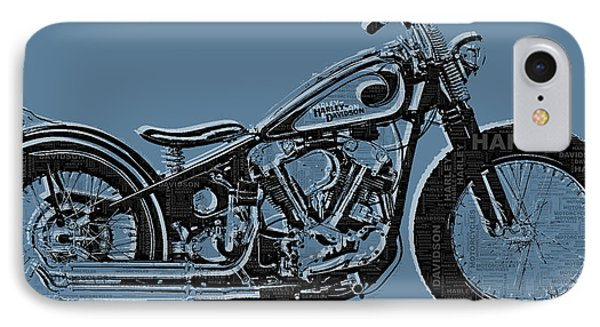 Harley-davidson And Words IPhone Case by Tony Rubino