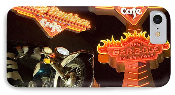Harley Davidson Cafe Phone Case by Bob Christopher