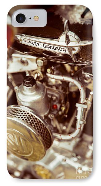 IPhone Case featuring the photograph Harley Davidson Closeup by Carsten Reisinger