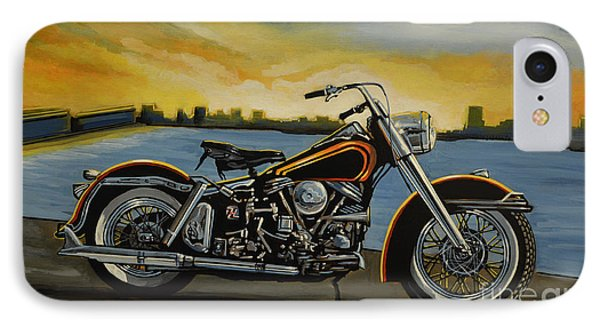 Motorcycle iPhone 7 Case - Harley Davidson Duo Glide by Paul Meijering