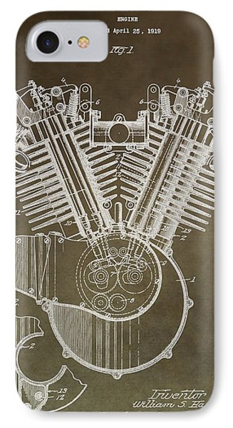 Harley Davidson Engine Phone Case by Dan Sproul