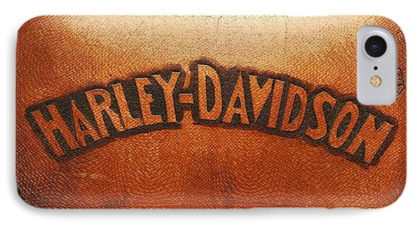 Harley Davidson Leather Tool Bag  IPhone Case by Stefano Senise