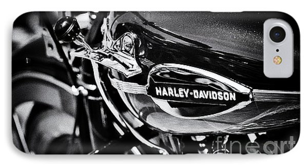 Harley Davidson Monochrome Phone Case by Tim Gainey