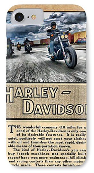 Harley-davidson Montage With Austin Map IPhone Case