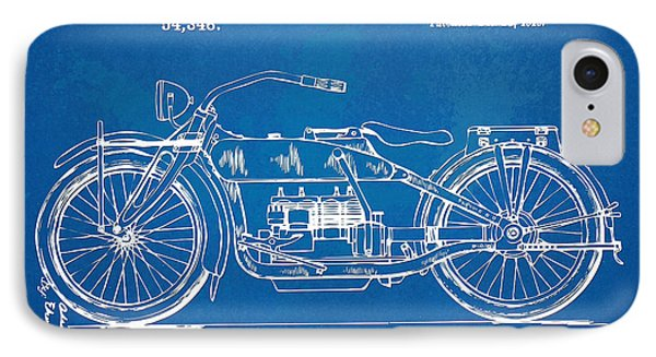 Harley-davidson Motorcycle 1919 Patent Artwork IPhone Case by Nikki Marie Smith