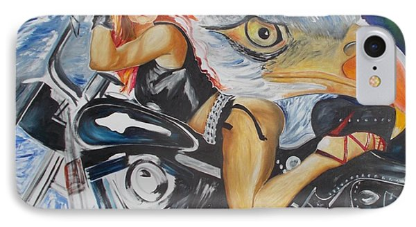 IPhone Case featuring the painting Harley Girl by PainterArtist FIN