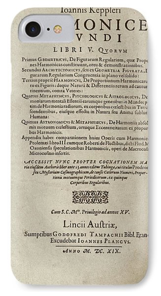 'harmonices Mundi' (1619) IPhone Case by Library Of Congress