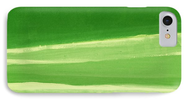 Harmony In Green IPhone Case by Linda Woods