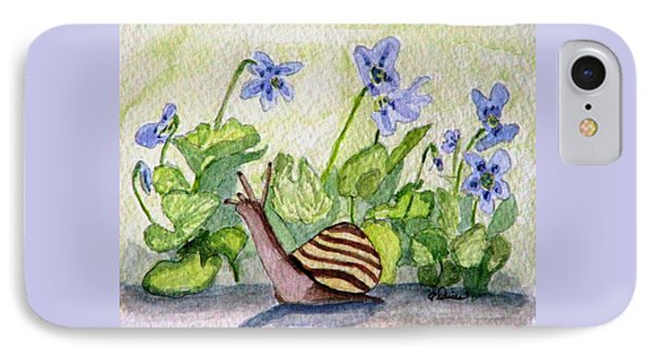 IPhone Case featuring the painting Harold In The Violets by Angela Davies