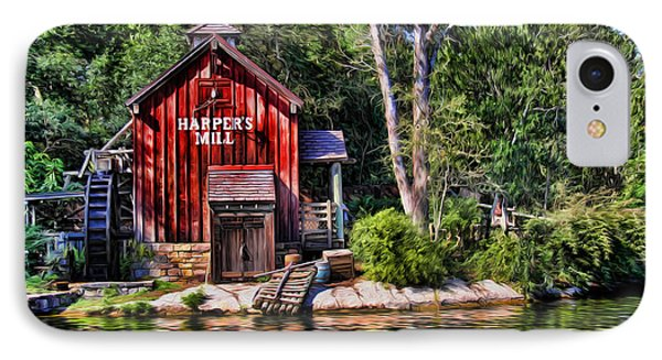 Harper's Mill - Digital Painting  IPhone Case by Lee Dos Santos