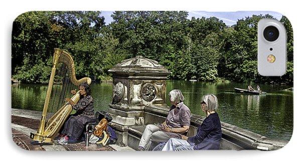 Harpist - Central Park Phone Case by Madeline Ellis