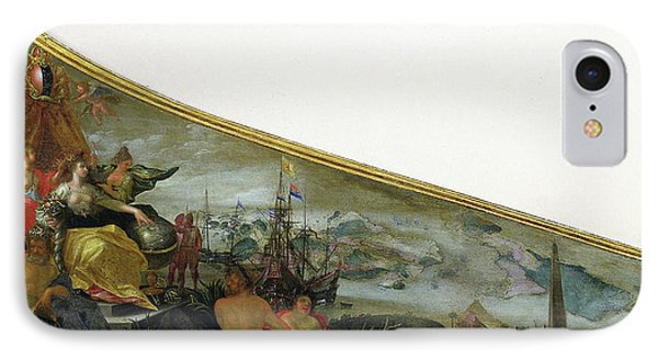 Harpsichord Lid Showing An Allegory Of Amsterdam IPhone Case