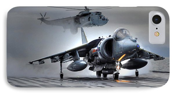 Harrier Gr9 Takes Off From Hms Ark Royal For The Very Last Time IPhone Case by Paul Fearn