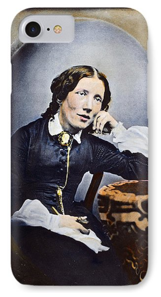 Harriet Beecher Stowe (1811-1896). American Abolitionist And Writer. Oil Over A Daguerrotype, C1852 Phone Case by Granger