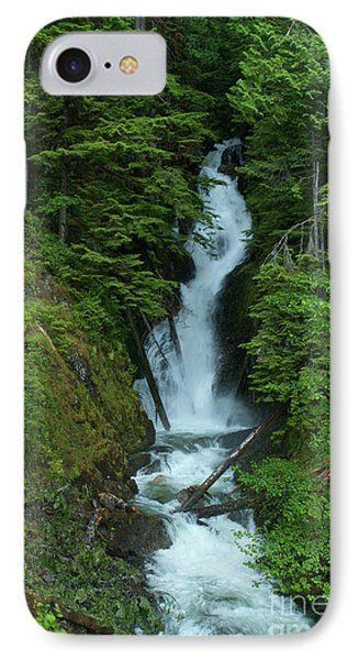 IPhone Case featuring the photograph Harrison Lake Road Falls by Rod Wiens
