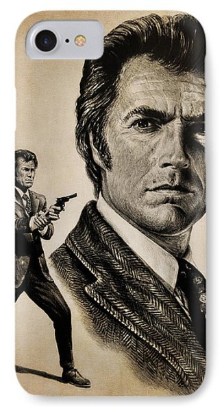 Harry Callahan  Tan Version Phone Case by Andrew Read