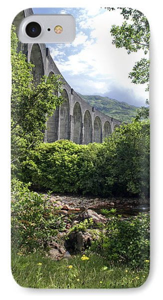 IPhone Case featuring the photograph Harry Potters Glenfinnan Viaduct Scotland by Sally Ross