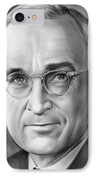 Harry S. Truman IPhone Case by Greg Joens
