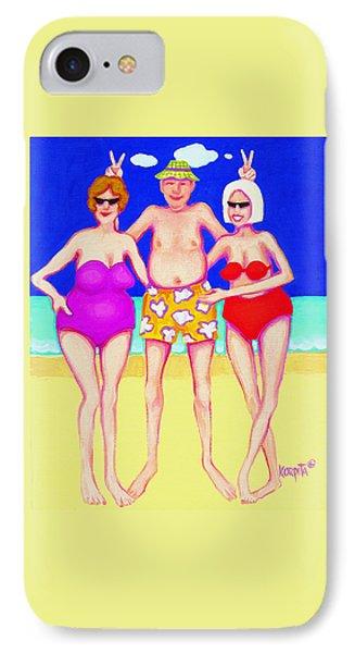 Funny Beach Women Man  IPhone Case by Rebecca Korpita