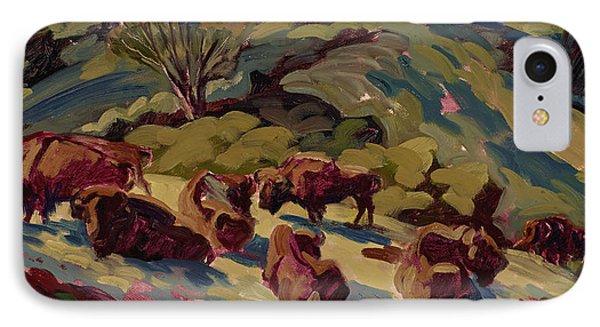 Hart Ranch Buffalo IPhone Case by Jane Thorpe