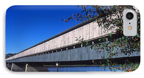 Hartland Bridge, Worlds Longest Covered IPhone Case by Panoramic Images